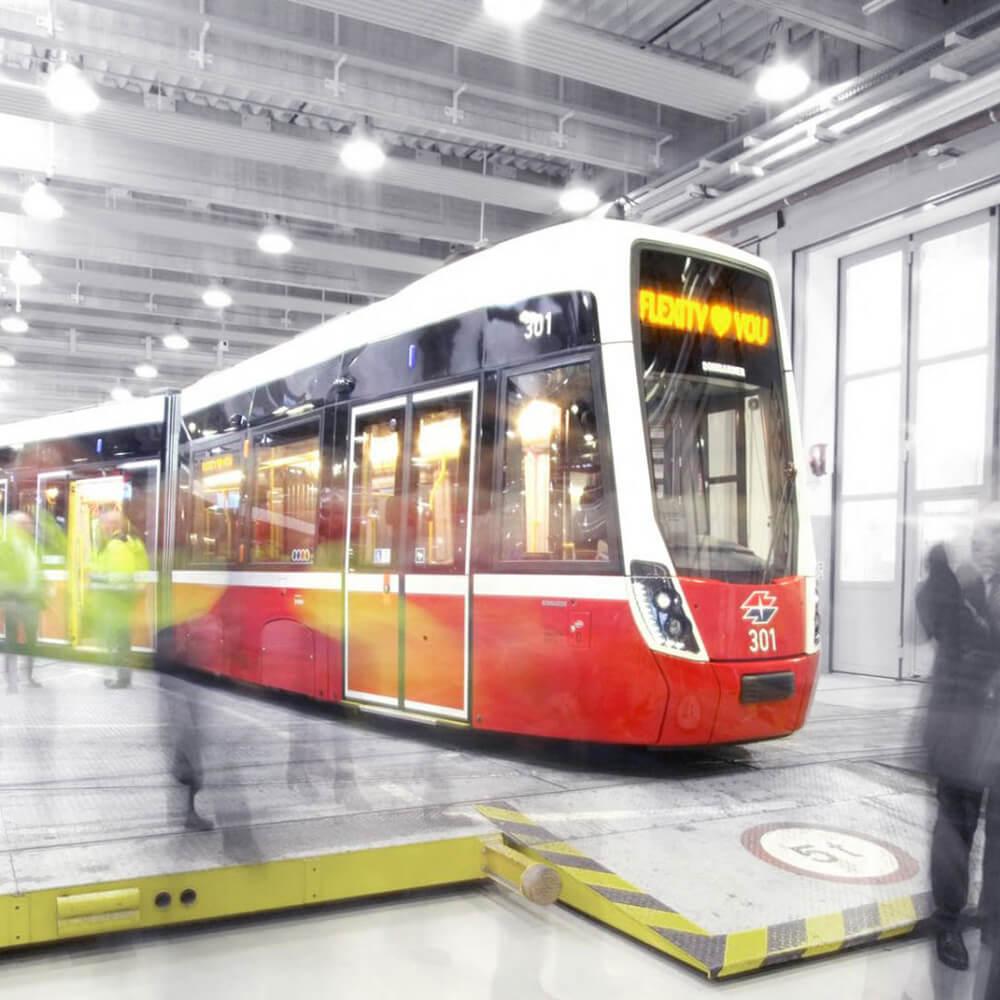 Bombardier Flexity Wien Design, Tram, Strassenbahn für Wien,