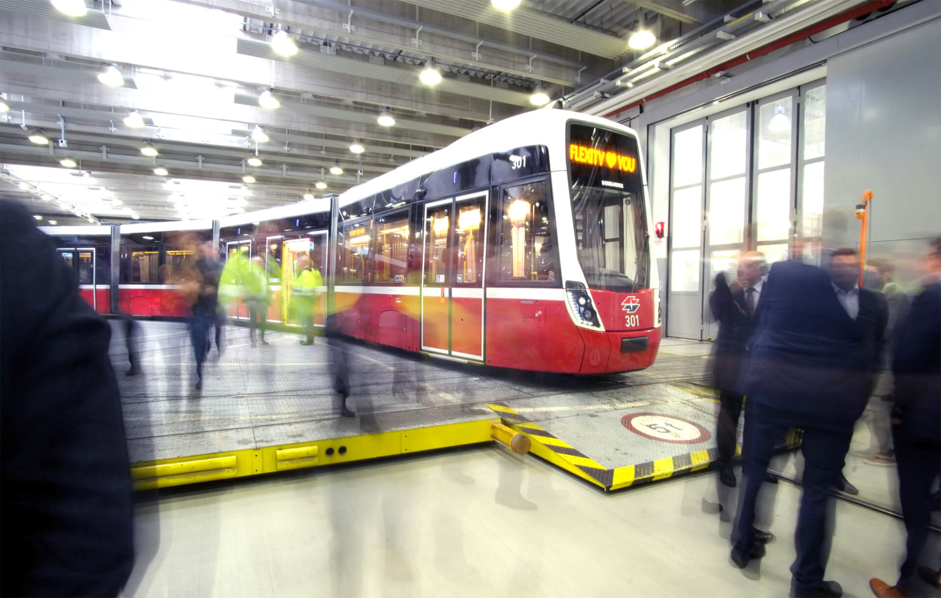 a new vienna tram on opening