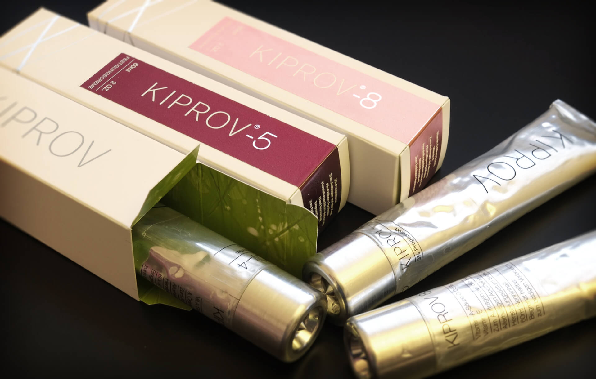modern packaging for kiprov cosmetics, packaging design
