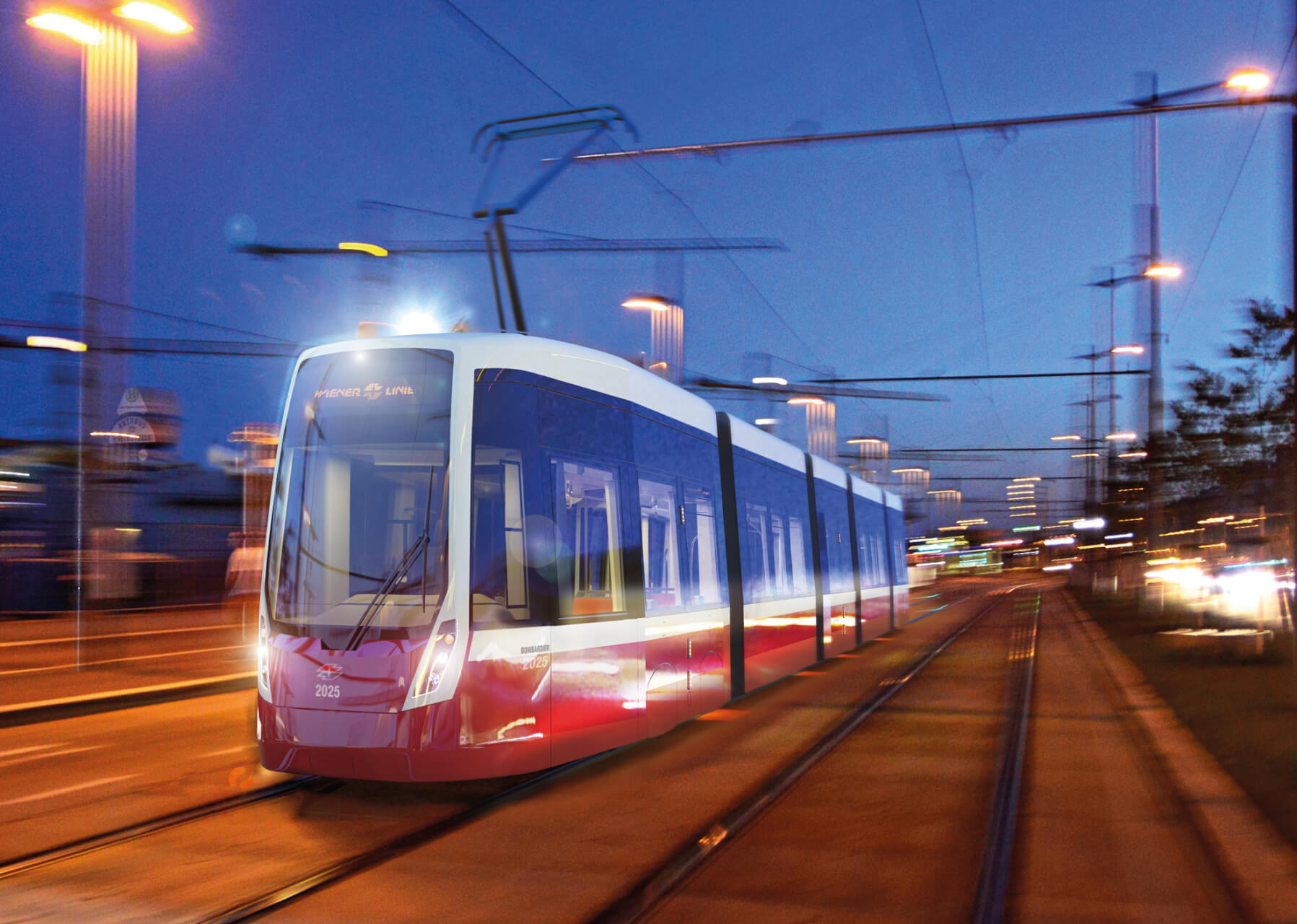 rendering of the new Tram for Vienna