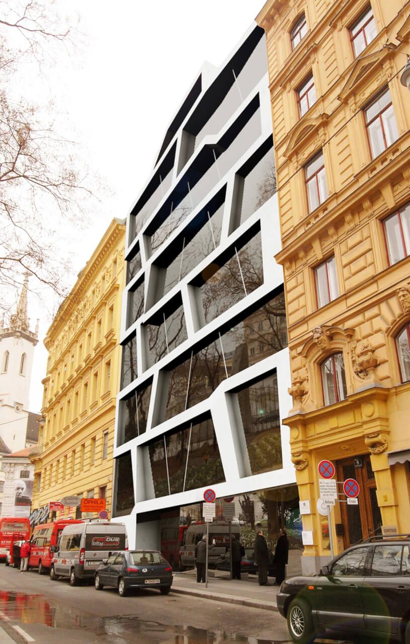modern appartment building in Vienna