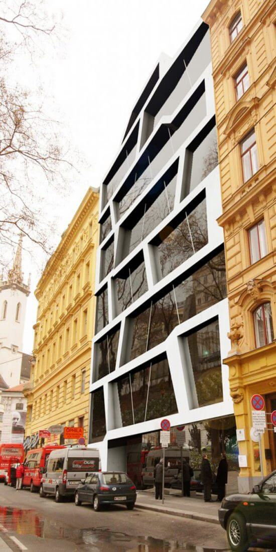 modern Appartment House, Architekt Wien, Döllmann Design, Rendering of a modern Residence Building