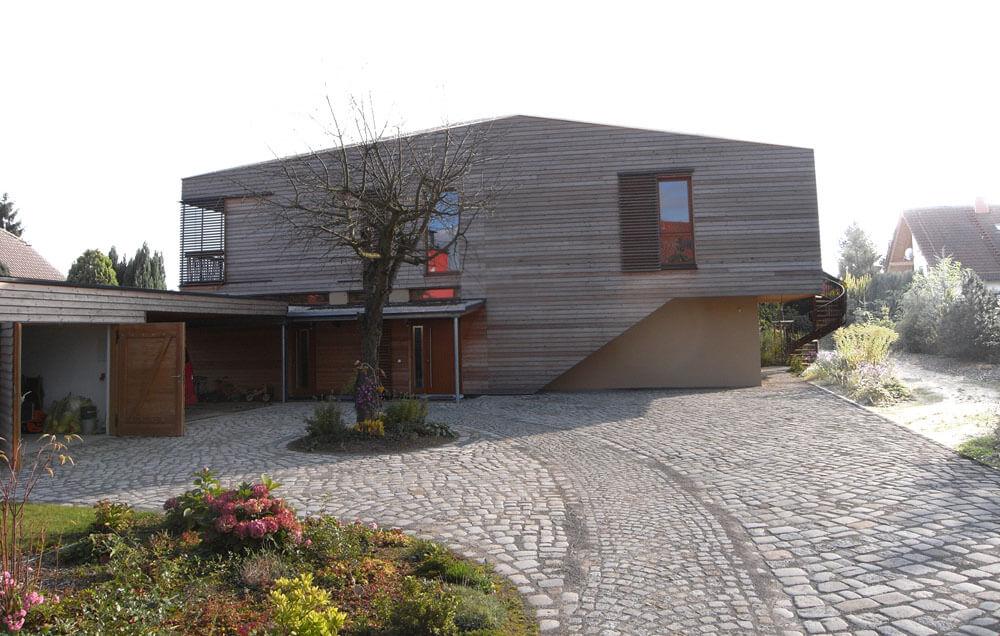 Holzverkleidetes Haus, Passivhaus