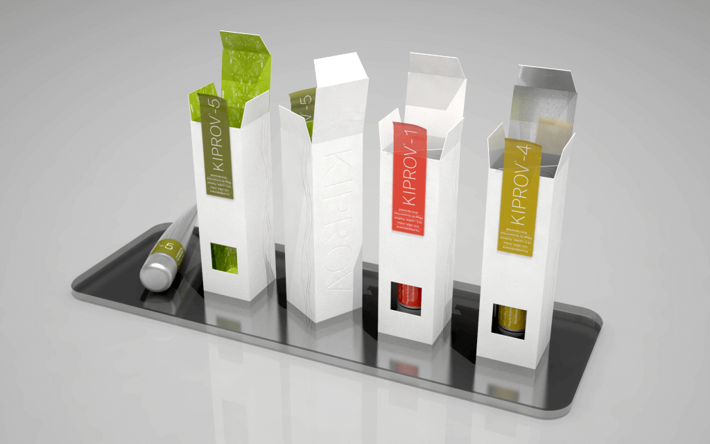 modern packaging for kiprov cosmetics