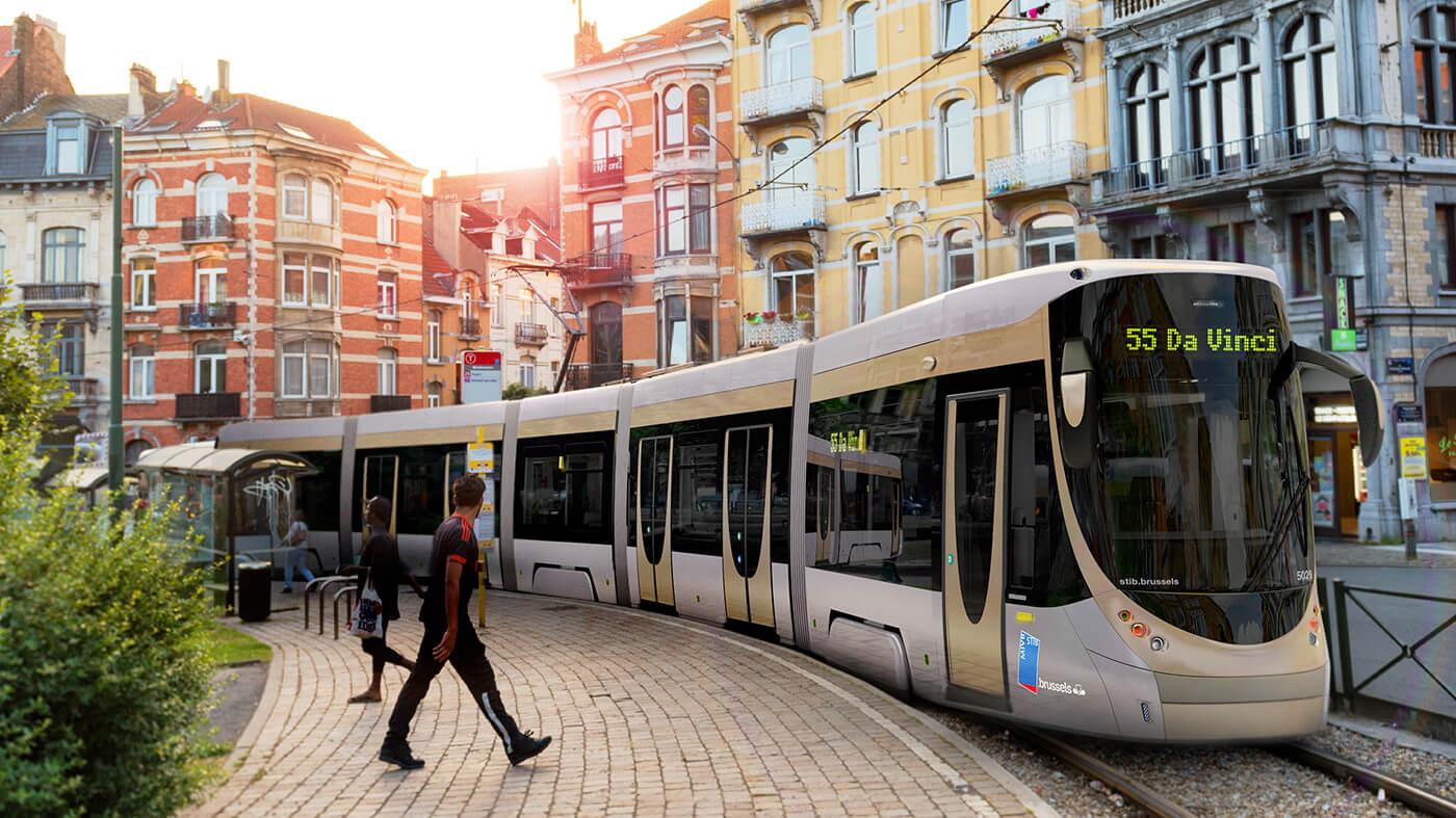 Bombardier Flexity Brussels, Rendering, Tram, Strassenbahn Brüssel