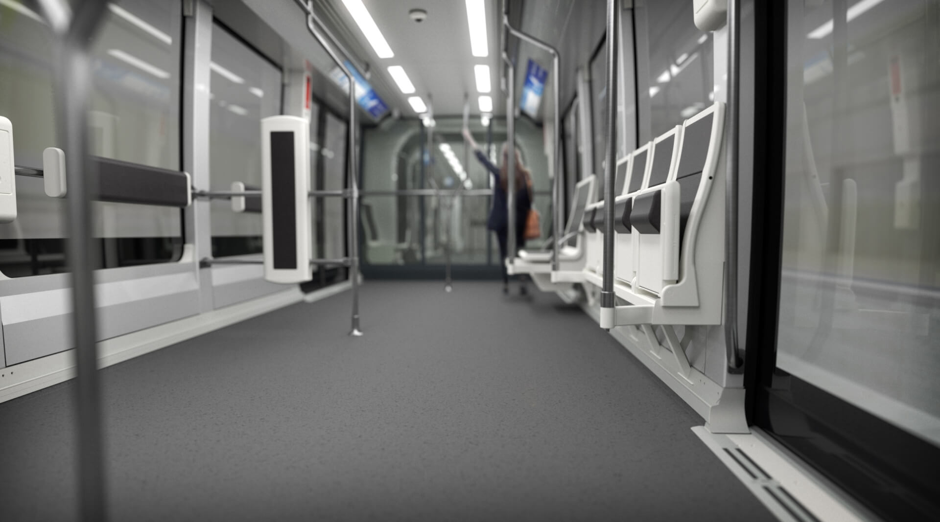 Siemens AirVal, Automated People Mover, Interior, Airport Shuttle,