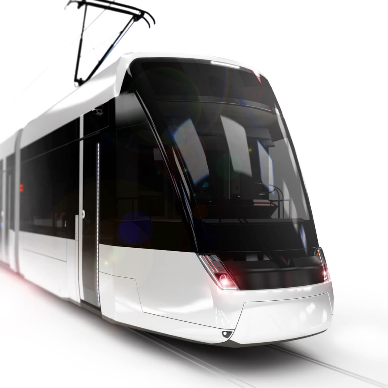 Der Stadler Tramlink Bern, eine moderne Strassenbahn von Döllmann Design, modern tram, productdesign, rendering, transportationdesign, tramdesign, traindesign, transportation design, urban transport,
