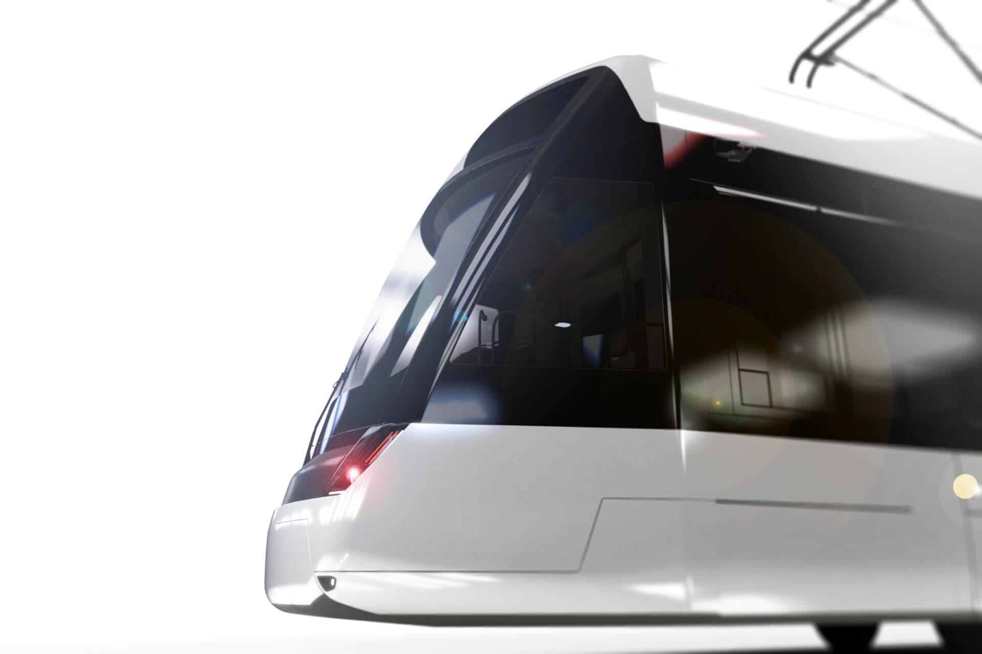 Der Stadler Tramlink Bern, eine moderne Strassenbahn von Döllmann Design, modern tram, productdesign, rendering, transportationdesign, tramdesign, traindesign, transportation design, urban transport,