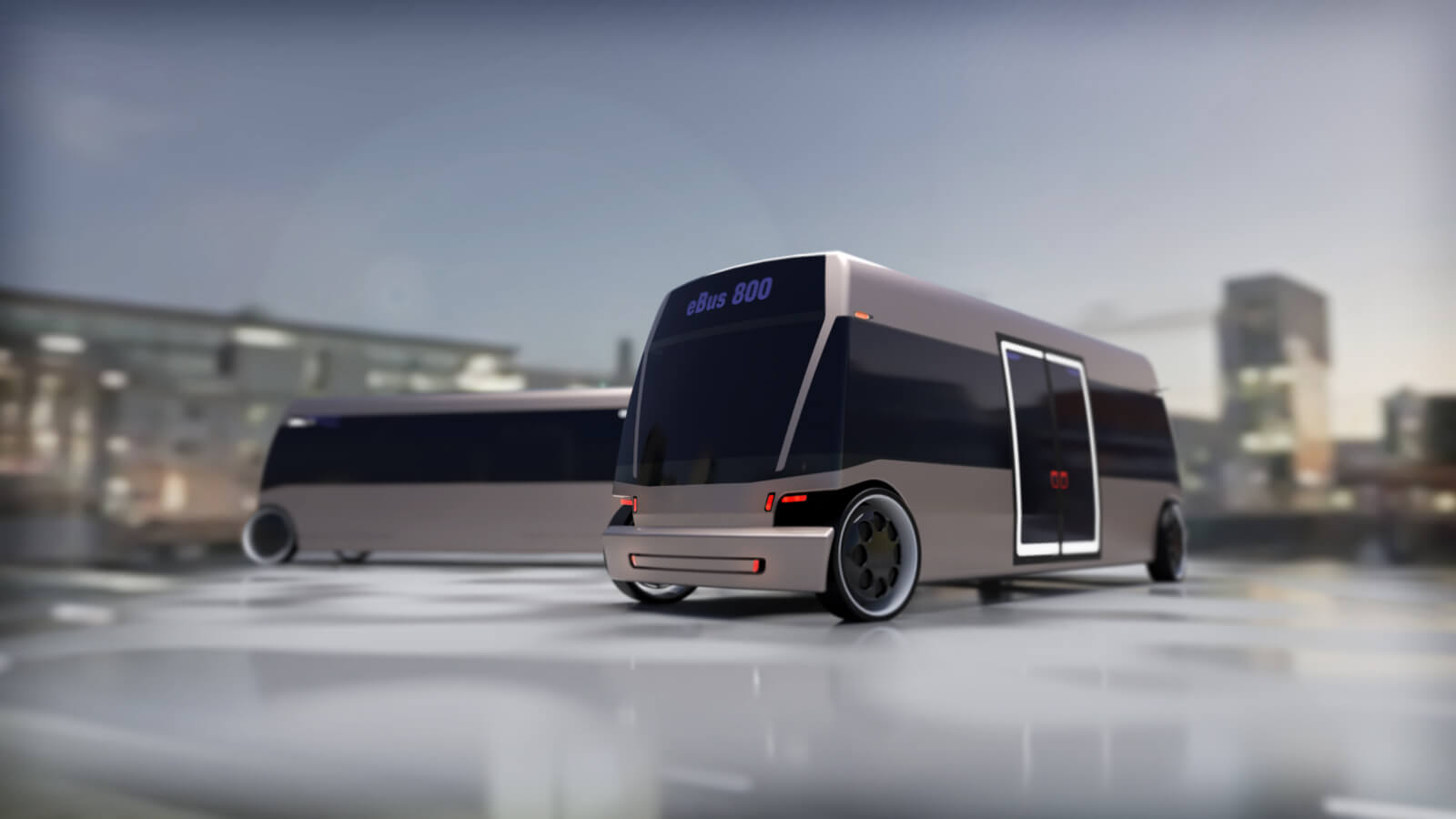 EBus Concept by Doellmann Design, driverless electric shuttle, DDA Industrial Design