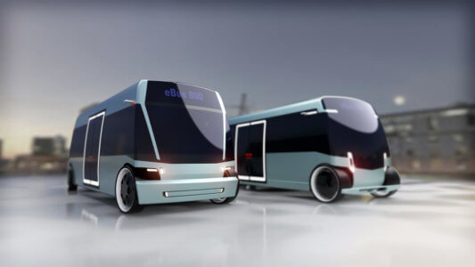 EBus Concept by Doellmann Design, driverless electric shuttle, DDA Industrial Design